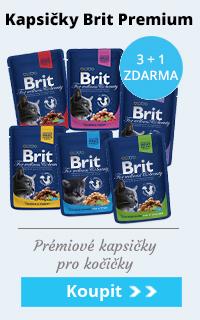 Brit Premium Cat kapsičky 3 + 1 zdarma