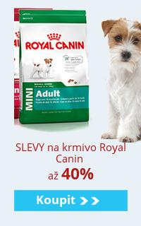 Royal canin krmivo se slevou až 40%